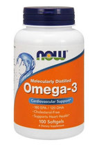 NOW Omega 3 (100 гел. капс.)