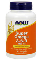 NOW Super Omega 3-6-9 1200mg (90 капс)