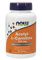 NOW Acetyl L-Carnitine 750 mg (90 таб)