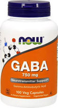 NOW GABA 750 mg (100 вег. капс)