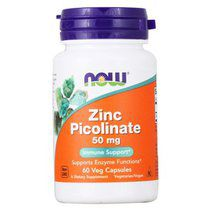 NOW Zinc Picolinate 50 mg (60 вег. капс.)