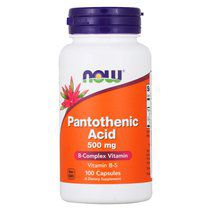 NOW Pantothenic Acid 500mg (100 капс)