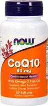 NOW CoQ10 60 mg + Omega-3 (60 вег. капс.)