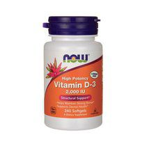 NOW Vitamin D3 2000 IU (240 гел. капс.)