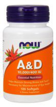 NOW Vitamin A&D10000/400 (100 гел.капс)